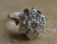 Goldring Brillantring 585 14K. mit Brillanten 0,5ct Brillant Weissgold Diamond