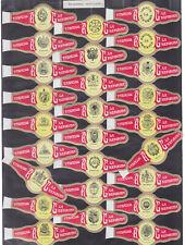 Série complète  Bague de Cigare Vitola Espagne BN115385 Ecussons Amériques 3
