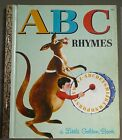 LITTLE GOLDEN BOOK ~ ABC RHYMES #543 1st EDITION 1974