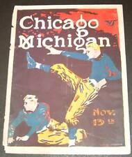 UNIVERSITY of MICHIGAN PROGRAM vs CHICAGO Nov 13, 1922  cover only U of M
