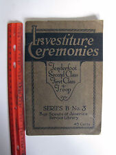 BOY SCOUT SERVICE LIBRARY BOOK; INVESTITURE CEREMONIES SERIES B No. 3