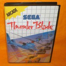 VINTAGE 1988 SEGA MASTER SYSTEM THUNDER BLADE ARCADE CARTRIDGE VIDEO GAME