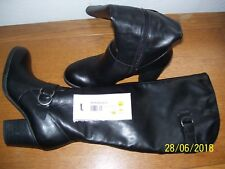 """WOMENS BLACK KNEE HIGH BOOTS SIZE 7 M BY """"NATURAL SOUL"""" RV $109.99, 1/2 PRICE FS"""