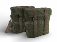 Royal Enfield Classic 350cc 500cc Military Pannier Pair Set Olive