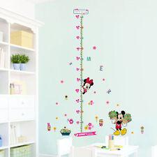 minnie mickey height measure wall stickers kids room gift decor vinyl decor