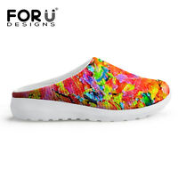 Fashion Mesh Slippers Flats Slip On Casual Beach Shoes Women's Girls Multi color