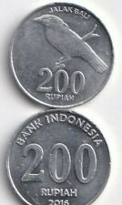 2 DIFFERENT 200 RUPIAH COINS from INDONESIA DATING 2003 & 2016 (2 TYPES)