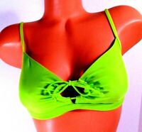 Women's Roxy Outdoor White Wash Top (Neon Lime)  Bikini Top Size S  NWT