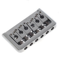 Guitar Fixed Hardtail Bridge for 6 String Electric Guitar Parts Chrome