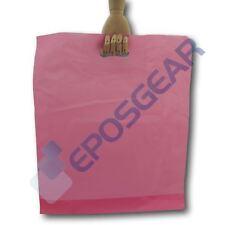 """100 15"""" X 18"""" X 3"""" Rosa fuerte del mercado de Regalo Parche Mango Plástico Bolsas"""