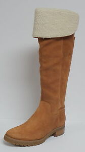 """MICHAEL KORS """"WHITAKER"""" TALL BOOT """"LUGGAGE"""" TAN SUEDE LEATHER KNEE HIGH ZIP UP"""