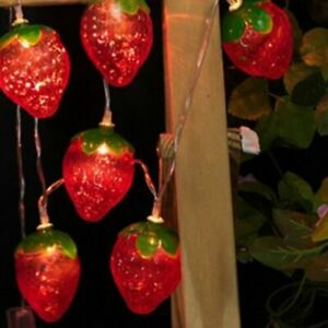 LED Strawberry Battery Box Light Strings Christmas Garden Party Home Decoration