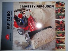 *Massey Ferguson Tractor Dealers MF 7500 Wheel Loader Sales Brochure literature