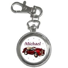 AUSTIN J40 RED PEDAL CAR KEYCHAIN WATCH **CUSTOMISED NAME**