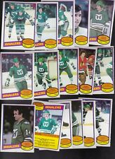 1980 - 81 OPC Team SET lot of 16 Hartford WHALERS NM o-pee-chee KEON FOTIU HOWE