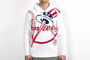 Majestic MLB New York Yankees Bater Loopback OTH Hoodie Jacket Men's White Hoody