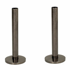 Black Nickel 15mm x 130mm Tails and Decoration Floor Cover Plates (Pair)