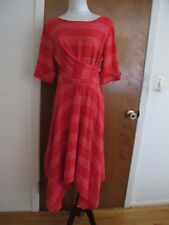 Anthropologies women's red stylish A-line  dress size 10  NWT