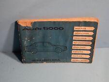 80 1980 Audi 5000 owners manual