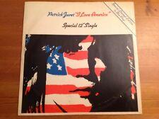 "PATRICK JUVET "" I LOVE AMERICA "" special 12"" Single BLUE VINYL limited edition"