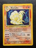 12/102 | Ninetales HOLO | WOTC Base Set | Pokemon Card | Played