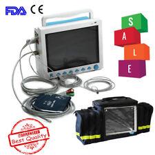 FDA CE CMS8000 Portable ICU Patient Monitor Vital Signs 6-Parameter Free Handbag