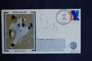 Denny McLain's 30th Win in 1968 Event Bulls Eye Cachet Signed by McClain WH029