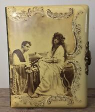 Antique 1898 Victorian Celluloid & Velvet Photo Album Alfred S. Campbell Scene