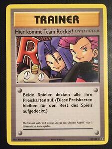 Pokemon!! Hier Kommt Team Rocket! Evolutions 113/108! Secret Rare! Near Mint! DE
