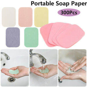 Portable Cleaning Products Soap Paper Hand Washing Bactericidal Soap Flakes