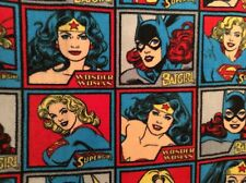 "Dc Comics Girl Power By Camelot Fabric Fleece Wonder Woman Bat, 60"" by 35"""