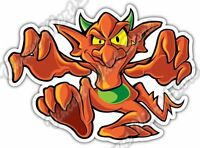 "Walking Red Devil Evil Funny Cartoon Gift Car Bumper Vinyl Sticker Decal 5""X4"""
