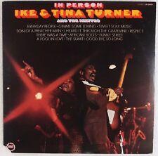 IKE & TINA TURNER: In Person USA Orig '69 Minit Soul R&B Vinyl LP NM Wax