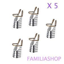 5 formes chablon réutilisable construction pour ongles manucure
