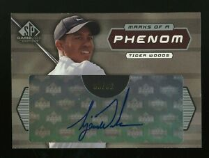 2003 SP Game Used Edition Golf Marks Of A Phenom Tiger Woods Signed AUTO 8/32