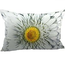 Kissen - Dekokissen Blüte - Blume Gerbera Weiss ca 50 x 35 cm Zierkissen