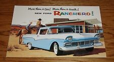 1957 Ford Truck Ranchero Pickup Foldout Sales Brochure 57
