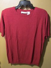 Alfred Dunner Short Sleeve Sweater Ladies Size Small Red 7-860S6
