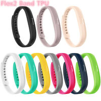 For Fitbit Flex 2 Tracker TPU Replacement Wristband Wrist Strap Watch Band S L