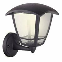 Luceco LED Bottom Arm Four Panel Coach Lantern IP44 Rated 8W Black