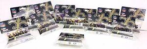 Lot of 6 NFL New Orleans Saints Logo Bandz / Bands Bracelets 20 pack *NEW*