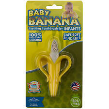 Silicon Bendable Banana Teether Baby Training Toothbrush Infant Toddler Massager