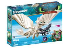 Playmobil 70038 Dreamworks Dragons Light Fury W/Baby Dragon + Children  MIB/New