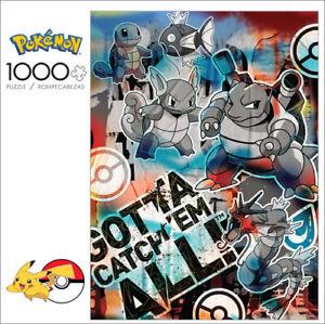 Buffalo Games Pokémon Squirtle Evolution Graffiti 1000 Piece Jigsaw Puzzle NEW