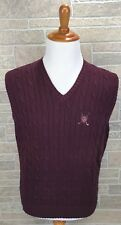 Polo Golf Sweater Vest Cable Knit Golf Logo Preppy Heavy High Quality Size L