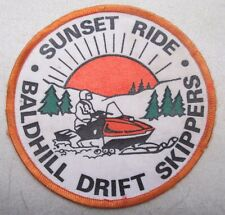 Vintage Sunset Ride Baldhill Drift Skippers Snowmobile Patch