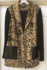 Conrad c Collection Animal Print Wool Blend Jacket, Size 10 NWOT
