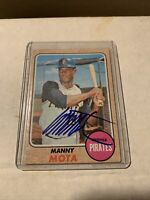 1968 Topps # 325 Manny Mota Autograph Signed Card (MB) Pittsburgh Pirates