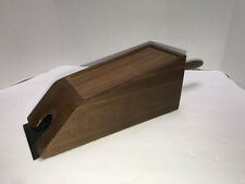 "Card Dealer Wooden Vintage Dark Wood 9.25"" Long 3.5"" Tall"