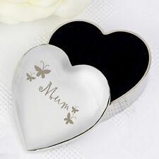 Grabado Joyería Caja de la baratija Mamá Corazón Día de las Madres Regalo De Navidad